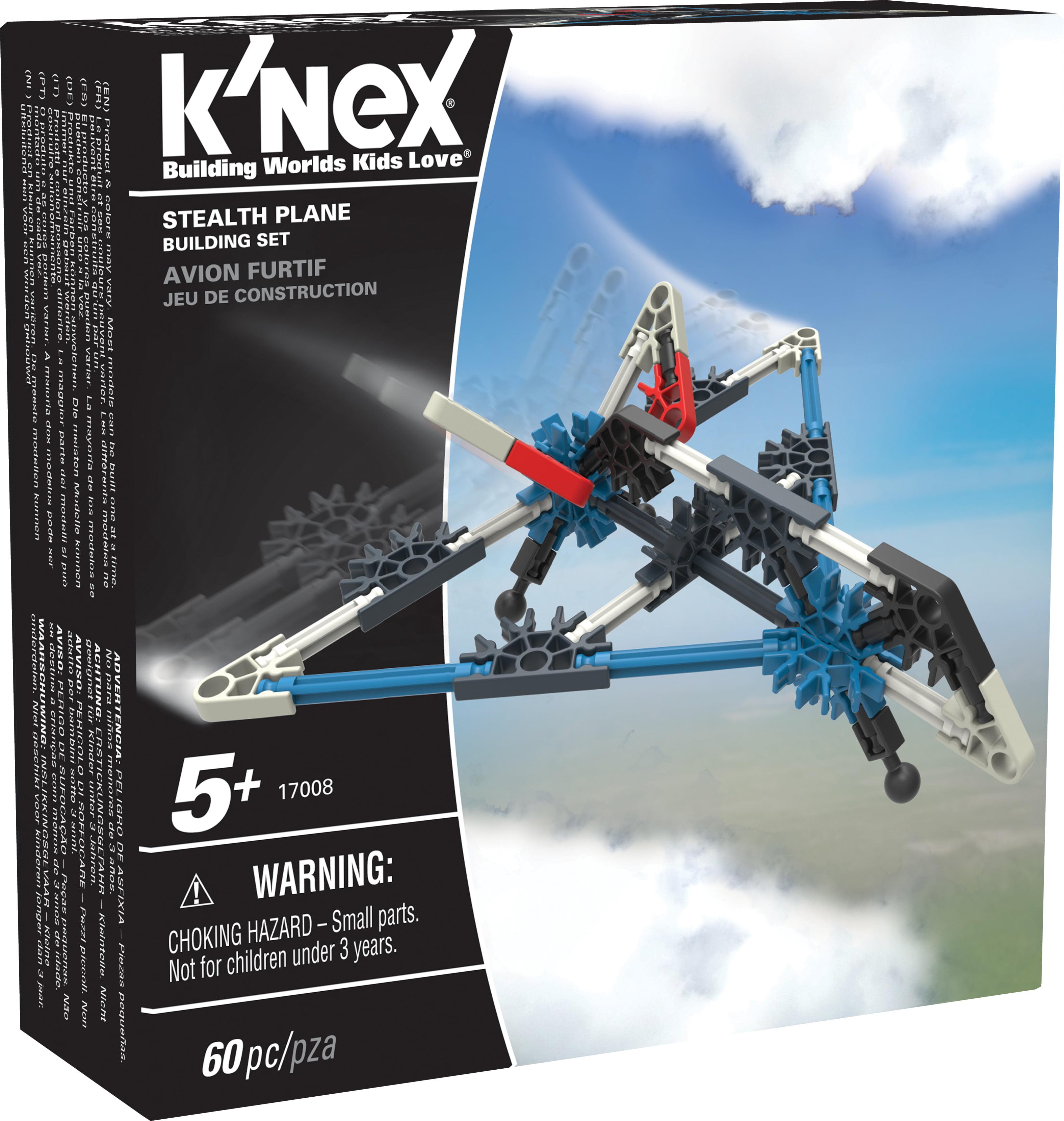 K'NEX Imagine - Stealth Plane Building Set 60 Pieces For Ages 5+ Construction Education Toy
