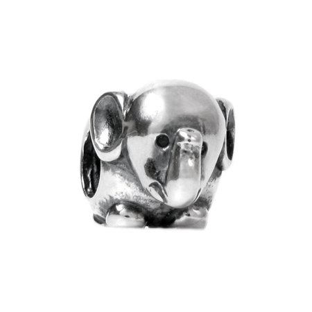 Queenberry  Sterling Silver Elephant European Bead Charm  Fits Pandora