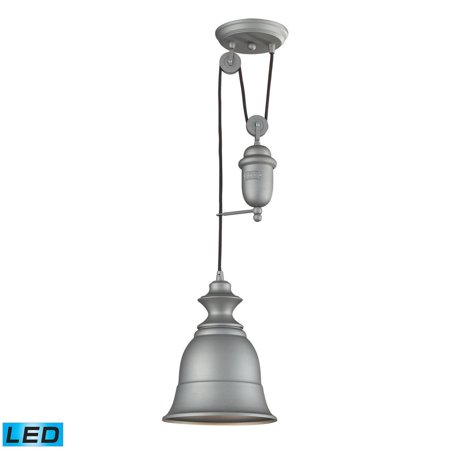 New Product  Farmhouse 1 Light Adjustable LED Pendant In Aged Pewter 65080-1-LED Sold by VaasuHomes Aged Pewter One Light