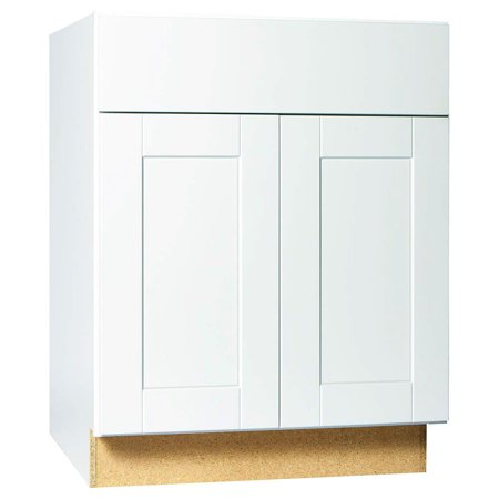 RSI HOME PRODUCTS SHAKER BASE CABINET, WHITE, 27 IN ...