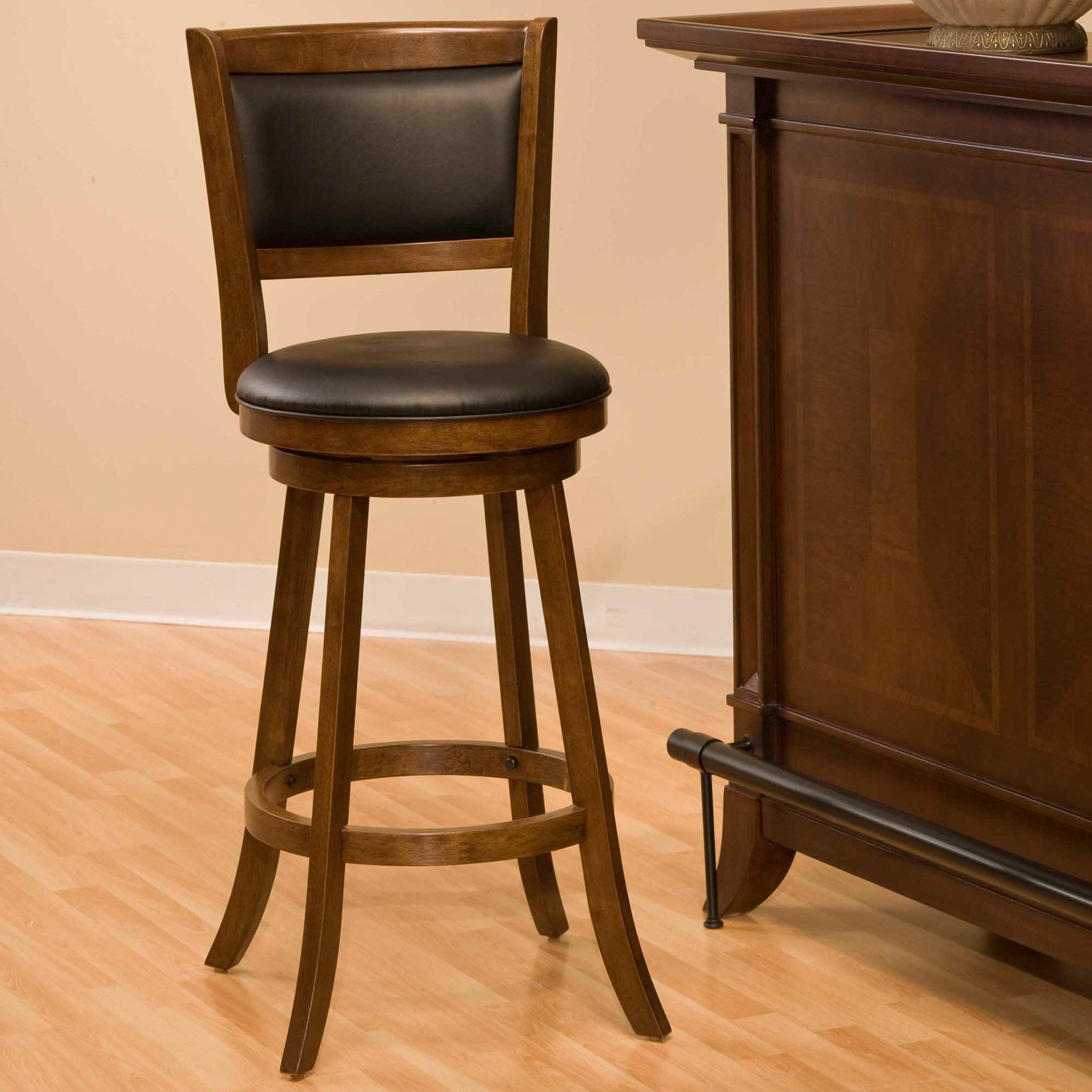 "Hillsdale Dennery 24"" Swivel Counter Stool - Cherry"