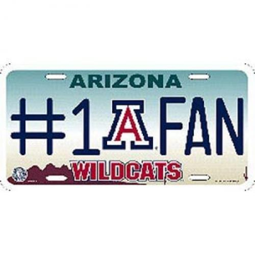 NCAA Arizona Wildcats #1 Fan Metal Tag