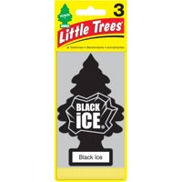 Little Trees Air Freshener Black Ice Fragrance 3-Pack