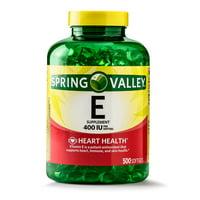 Spring Valley Vitamin E Softgels, 400 IU, 500 Count