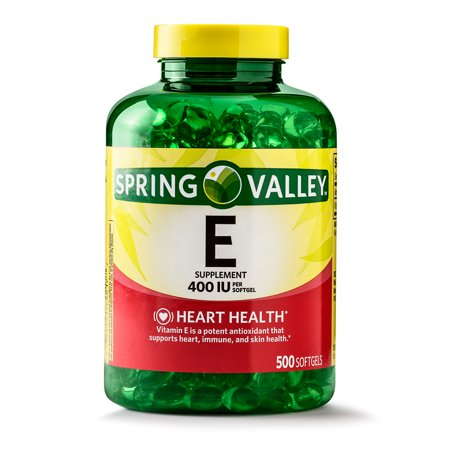 Spring Valley Vitamin E Supplement, 400IU, 500 Softgel