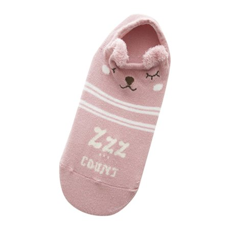 Breathable Kawaii Cartoon Women Comfortable Cotton Socks Short Ankle Socks - image 1 of 6