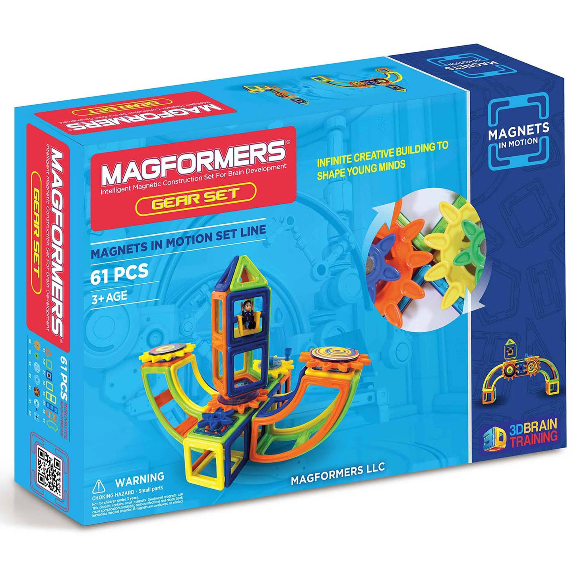 Magformers Magnets in Motion 61-Piece OPAQUE Gear Set by Magformers