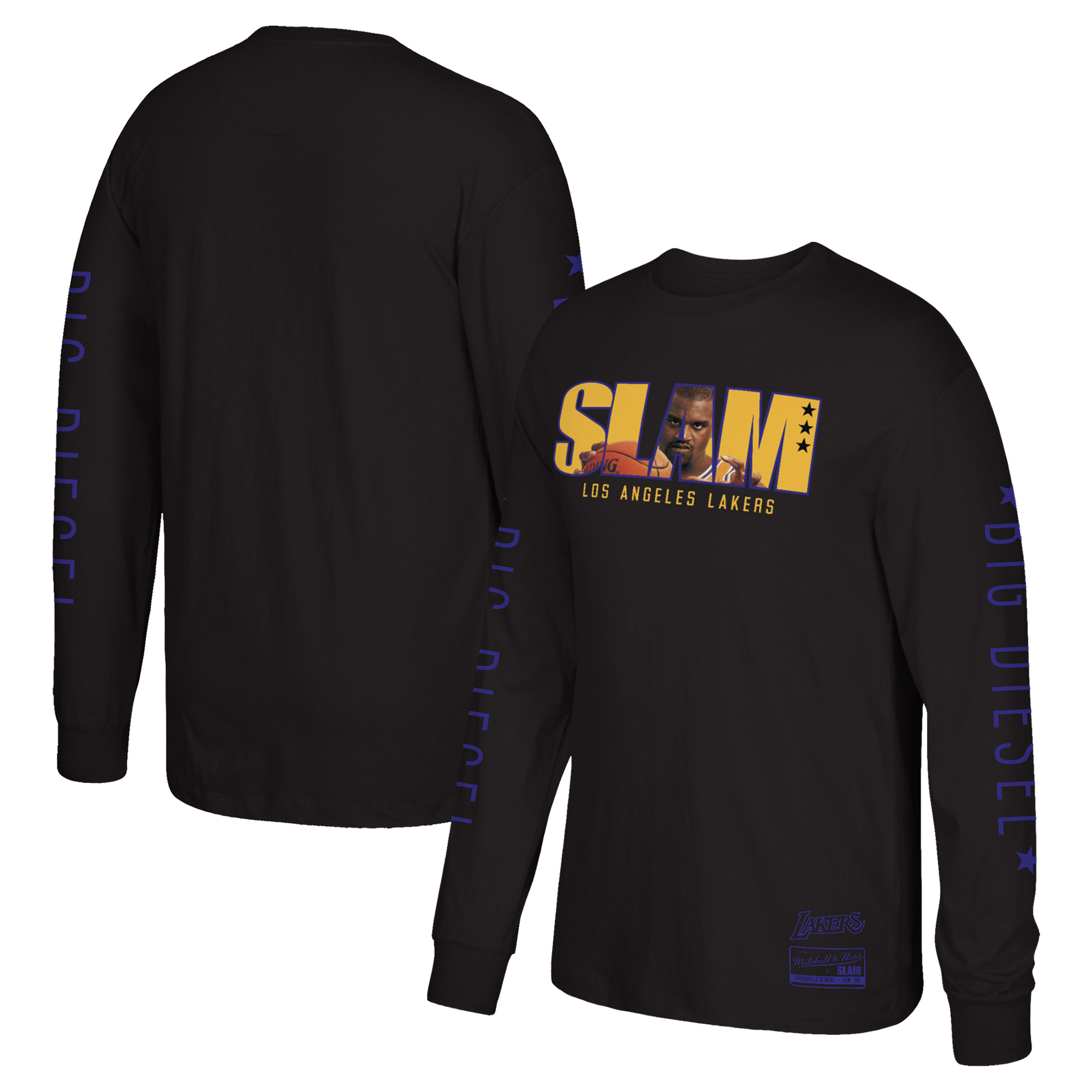 Shaquille O'Neal Los Angeles Lakers Mitchell & Ness Slam Long Sleeve T-Shirt - Black - S