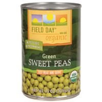 Field Day Peas, Og, Sweet, 15-Ounce (Pack of 12) ( Value Bulk Multi-pack)