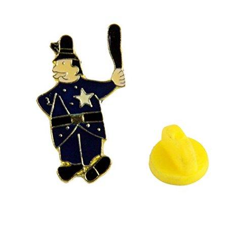 Shrine Keystone Cop Lapel Pin Shriner Cops Billy Club Star - Billy Club For Sale