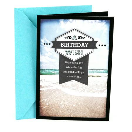 Hallmark Birthday Greeting Card For Him Beach Walmart