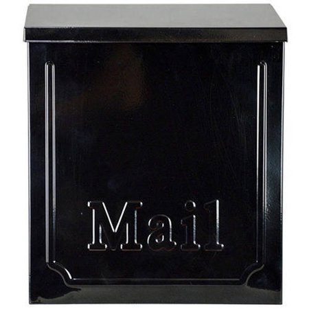 ALEKO USMB-01 Townhouse Wall Mounted Galvanized Steel Powder Coated Heavy Duty Mail Box, Black - Wall Mount Mailbox