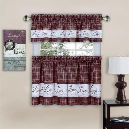 Window Curtain Tier Pair Valance Set