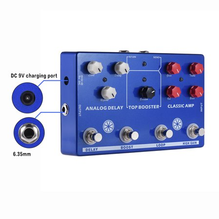 Multi-effects 4-in-1 Guitar TONE MAKESTATON Effect Pedal Processor CLASSIC AMP Booster Analog Delay FX LOOP