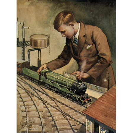 The Wonder Book of Engineering Wonders (nd) Playing with Trains Canvas Art - Unknown (18 x 24)