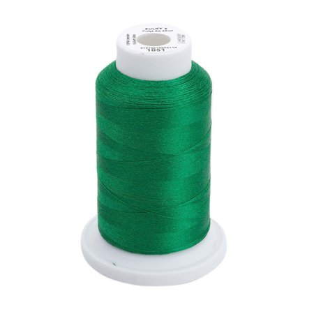 60wt Solid Polylite Thread, 1650 yd, Christmas Green, This thread is similar to Sulky Blendables, only very fine By Sulky Of (Thread Very Light)