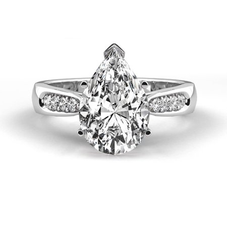 Platinum Solitaire Diamond Ring Natural 1.17 Carat Weight Pear Shaped G (Best Trousers For Pear Shaped)