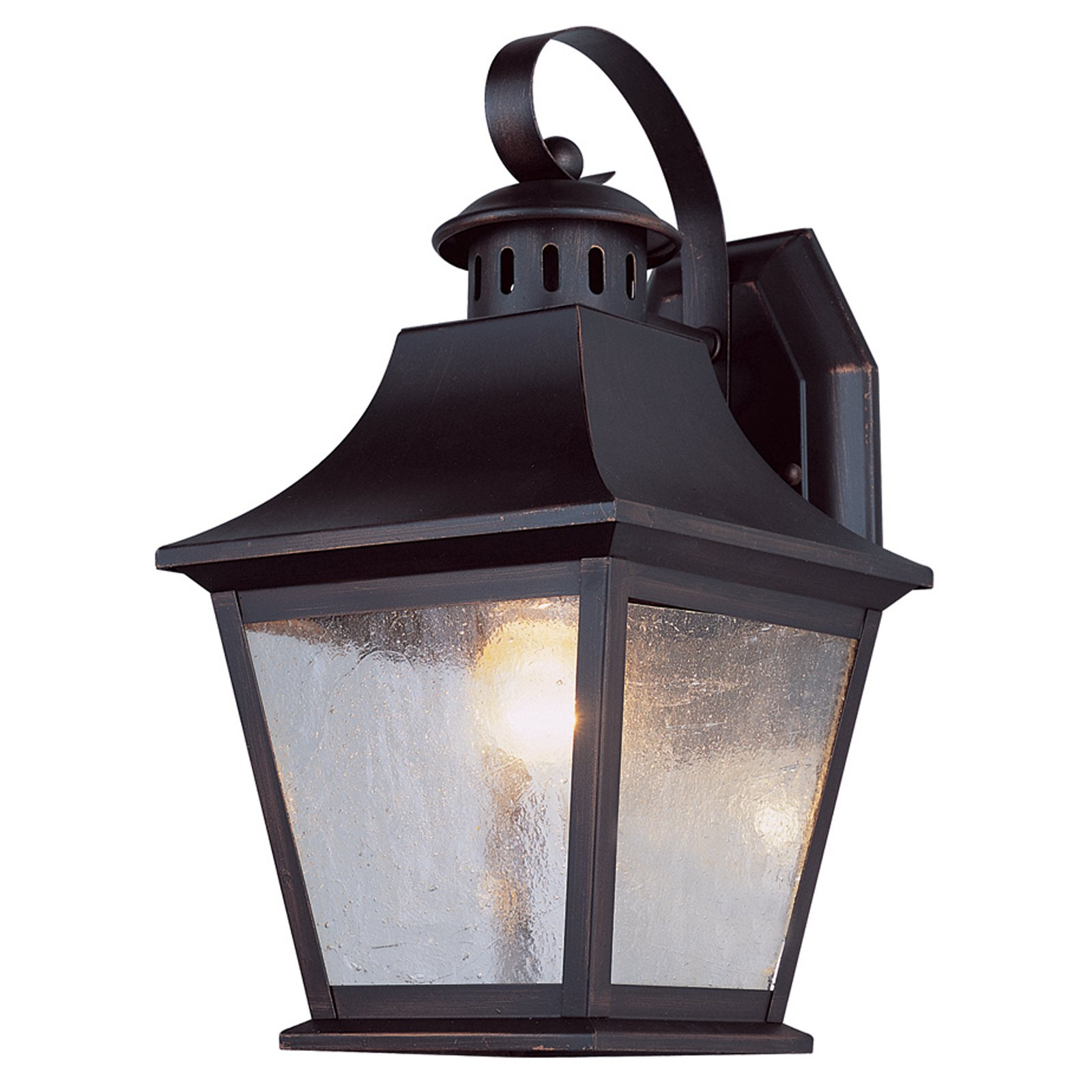 Trans Globe EE Manchester PL-4871 Outdoor Coach Lantern - Rubbed Oil Bronze - 11H in.