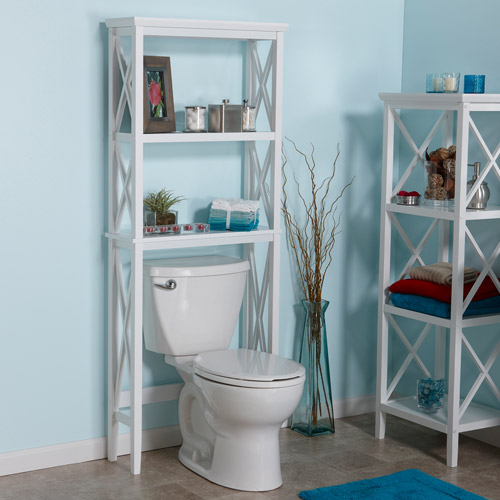 RiverRidge X-Frame Over-the-Toilet Spacesaver, White - Walmart.com