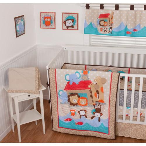 Sumersault Noah's Ark 9-Piece Nursery in a Bag Crib Bedding Set with BONUS Bumper