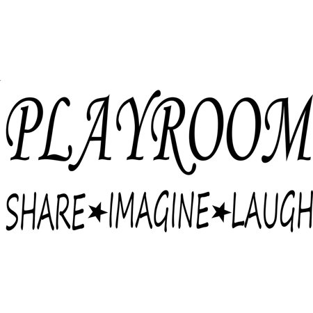 wall decal quote playroom share imagine laugh kids room children