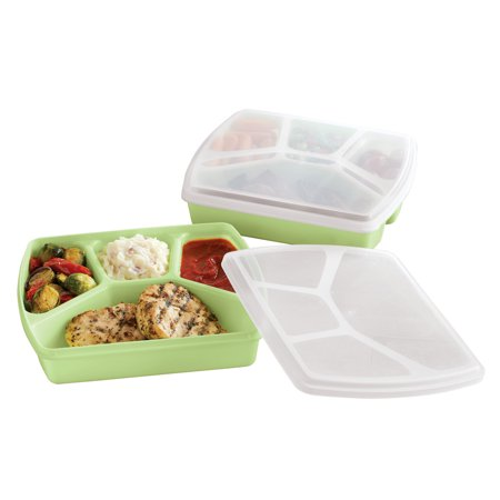Microwavable Food Containers Set Dishwasher Safe Storage With Lids 2 Pc