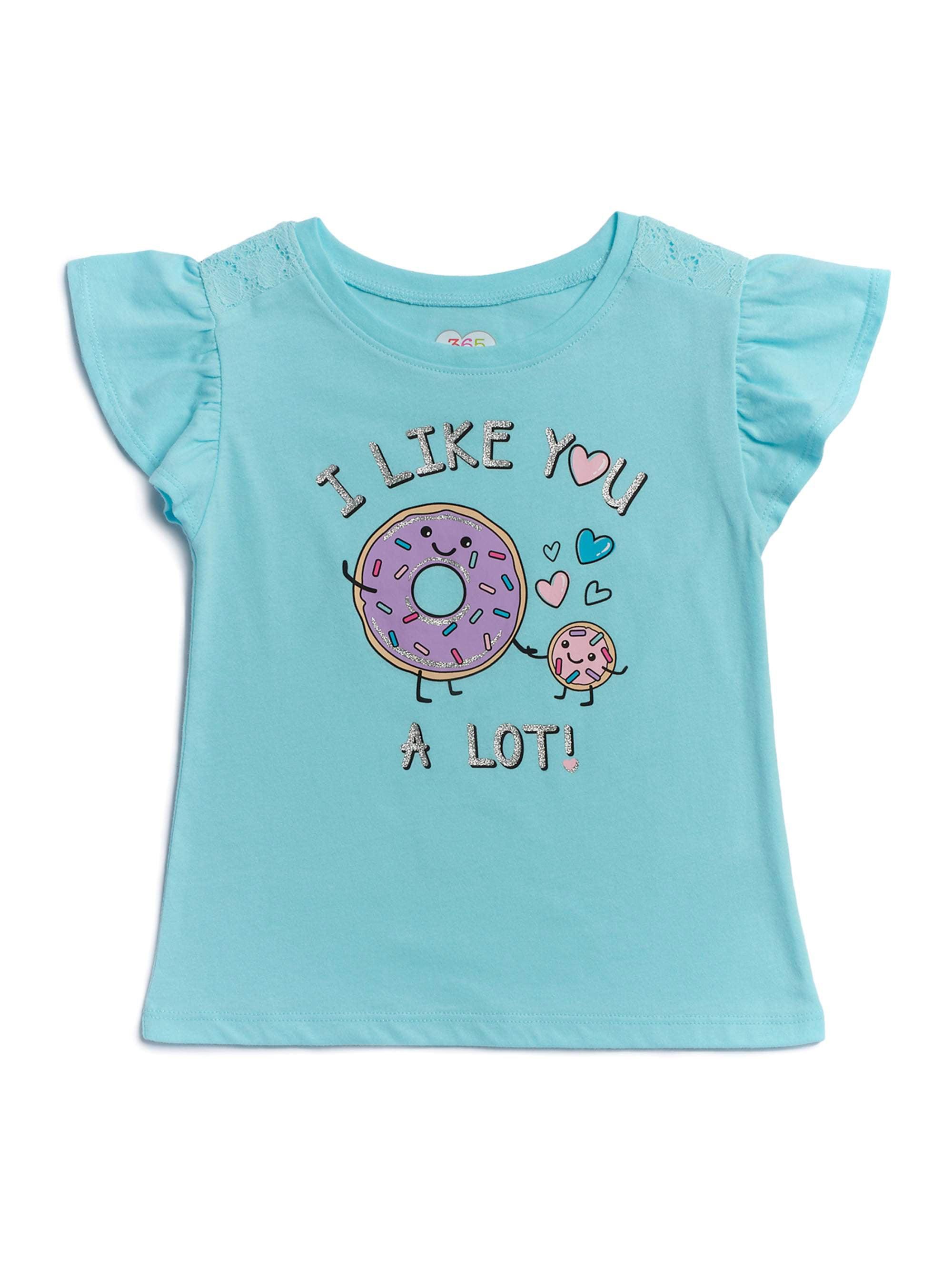 Garanimals 365 Kids Little Girls & Big Girls Lace Inset Tee