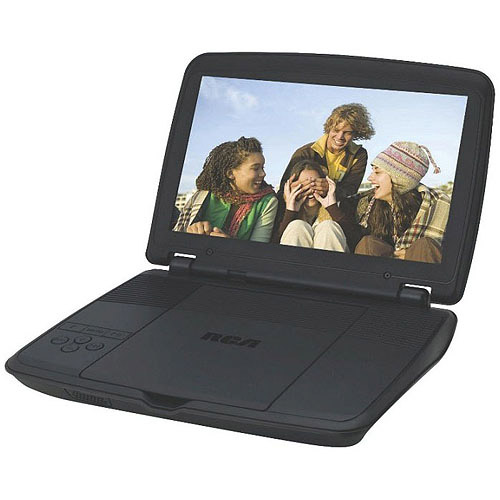RCA DRC96100 10-Inch Portable DVD Player with Rechargeable Battery, Black (Certified Refurbished)
