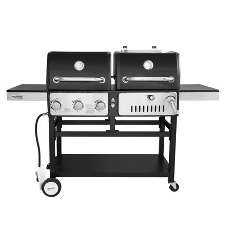 Royal Gourmet Zh3003 Bbq 3 Burner Propane Gas Charcoal Grill Combo Dual Fuel Black