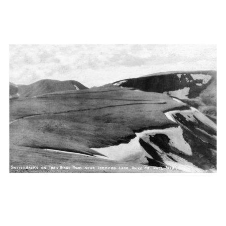 Rocky Mt Nat'l Park, Colorado - Trail Ridge Road Switchbacks near Iceberg Lake Print Wall Art By Lantern Press - Halloween Park Ridge