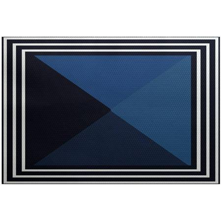 Simply Daisy 2' x 3' Nautical Angles Geometric Print Rug