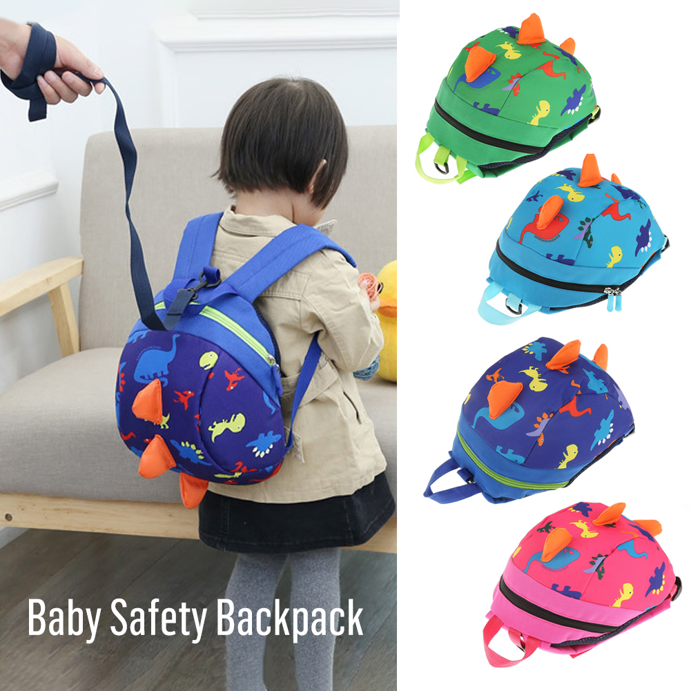 Baby Safety Harness Backpack,HURRISE Toddler Anti-lost Bag,Baby Safety Harness Backpack,Cute Cartoon Dinosaur Baby Safety Harness Backpack Toddler Anti-lost Bag Children Schoolbag