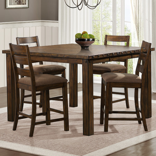square dining table with leaf extension weston home ronan extension leaf square counter height 9377