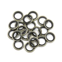 20pcs Engine Oil Crush Washers Drain Plug Gaskets 10mm ID. 16mm OD. for Auto Car