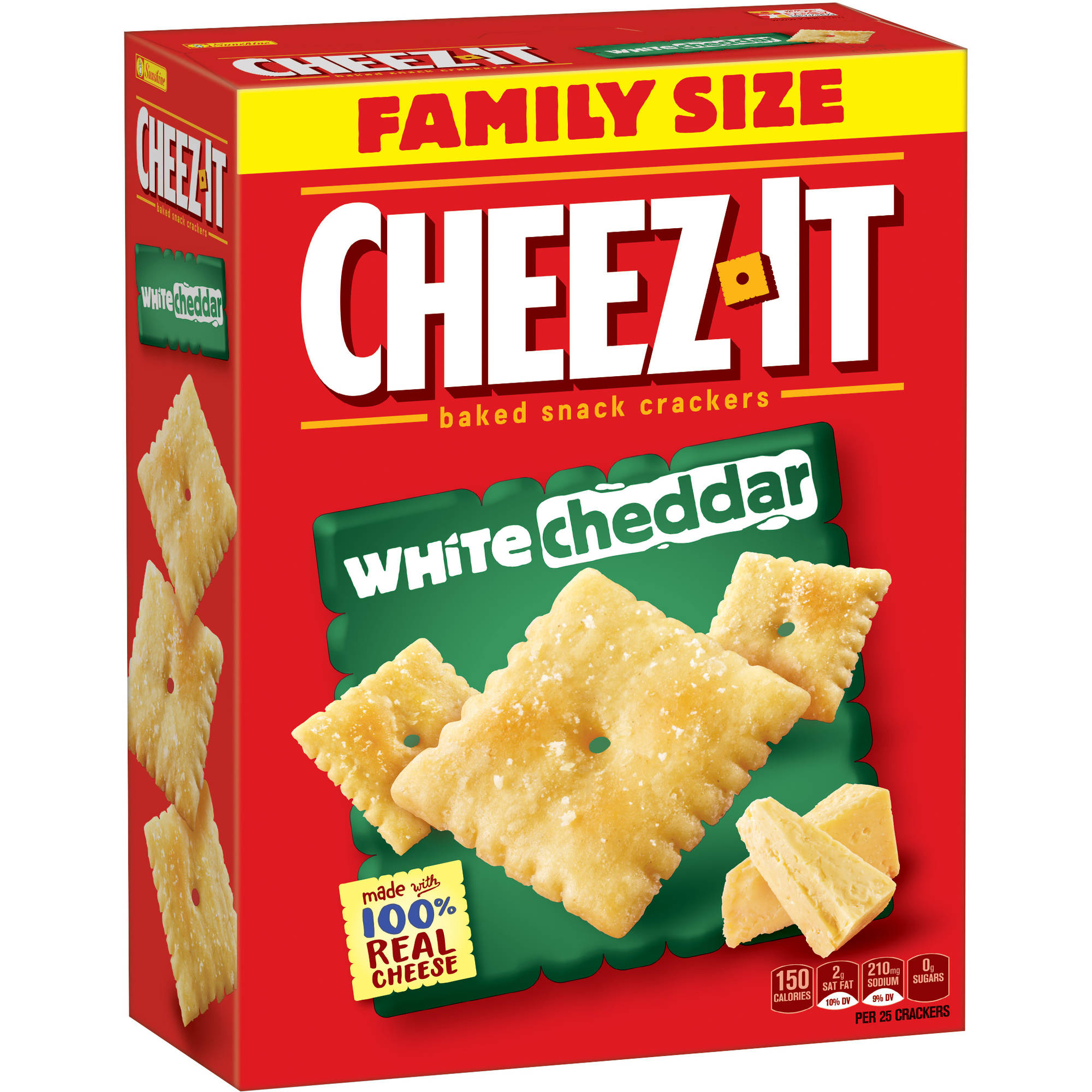 Cheez-It White Cheddar Baked Snack Crackers, 21 oz