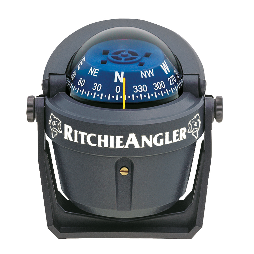 Ritchie RA-91 RitchieAngler Bracket Mount Compass, Grey with Blue Dial by Generic