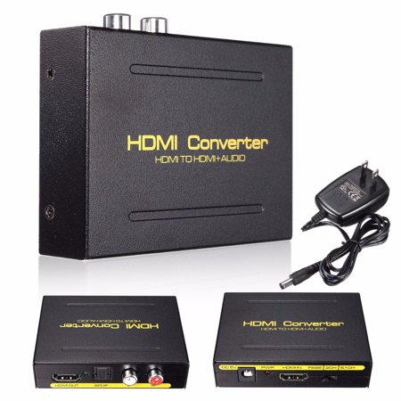 M Way Hd Hdmi To Hdmi And Optical Toslink Spdif   Analog Rca L   R Stereo Audio Extractor Converter Hdmi Audio Splitter Adapter Hdmi Input  Hdmi   Digital   Analog Audio Output  Black Color