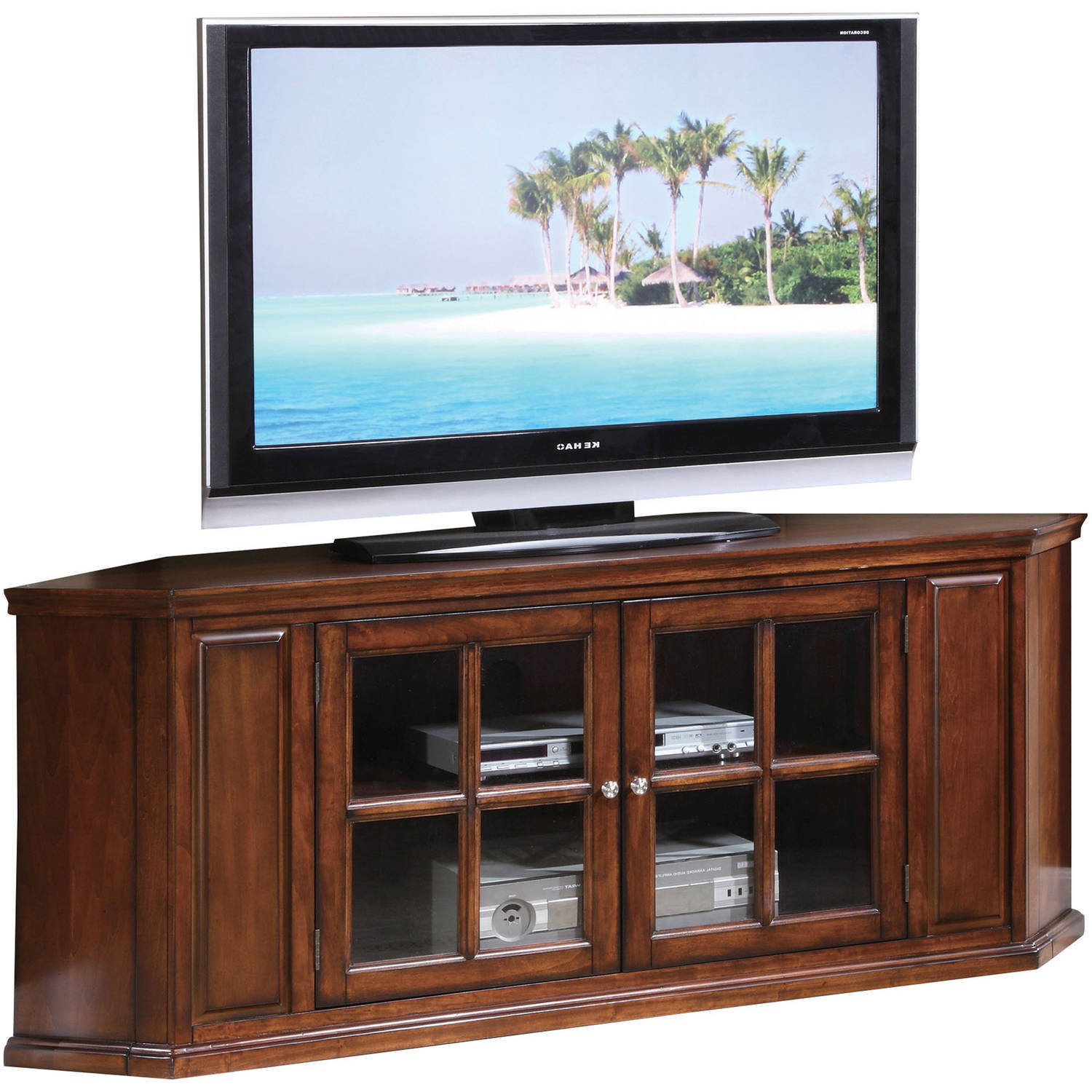 Acme Remington Brown Cherry TV Stand for TV up to 70""