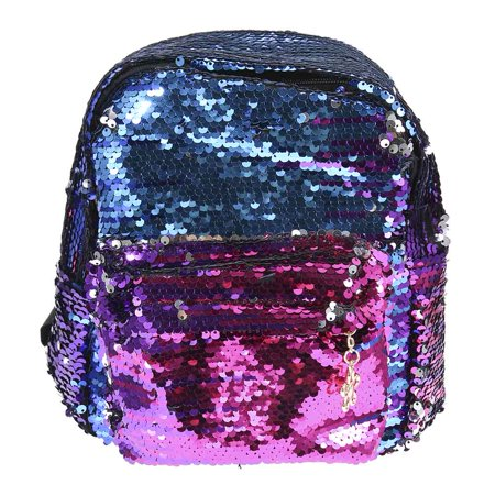 SHOPFIVE Best Women Girl Leather Glitter Backpack Casual Sequin Backpack Teenage Girl Shoulder Bag Student Fashion School Bag Women Travel (Best Bag To Avoid Pickpockets)
