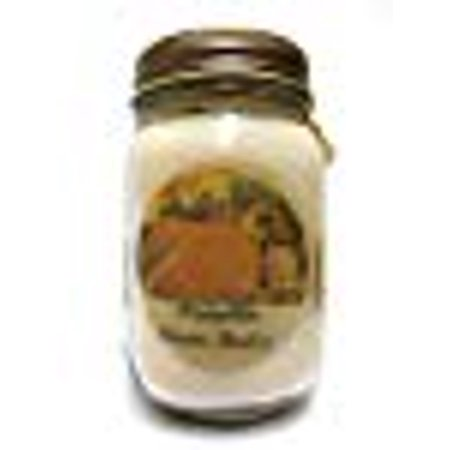 Pumpkin Crème Brulee 16oz Country Jar All Natural Soy Candle - Approximate Burn Time 144 - Country Clothesline Soy Candle