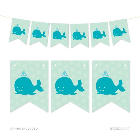 Pennant Party Banner Whale
