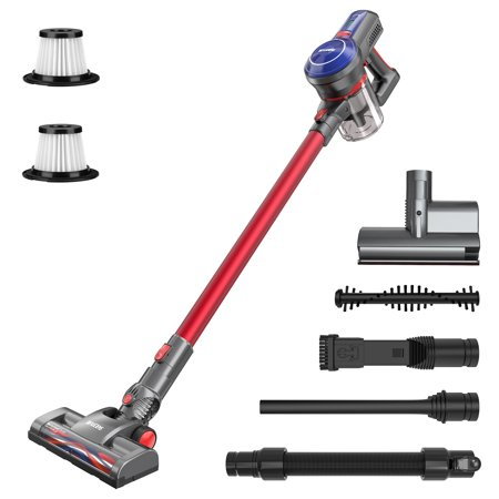 BEAUDENS B6 Cordless Stick Vacuum Cleaner, 16Kpa Powerful Suction, 160W Digital Motor, 5 in 1 Lightweight Rechargeable Handheld Vacuum for Home Hard Floor Carpet