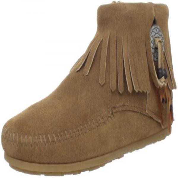Minnetonka Womens Concho Feather Taupe Boots by MINNETONKA