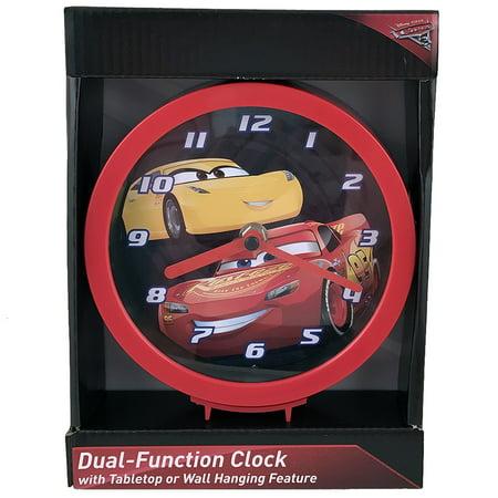 Race Car Clock - Disney Pixar Cars Dual-Function Clock