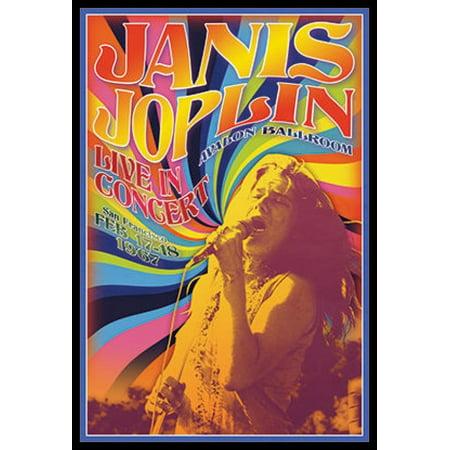Silkscreen Concert Poster - Janis Joplin - Concert Poster Poster Print