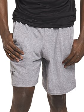 Russell Athletic Men's and Big Men's Basic Cotton Pocket Shorts, up to Size 4XL