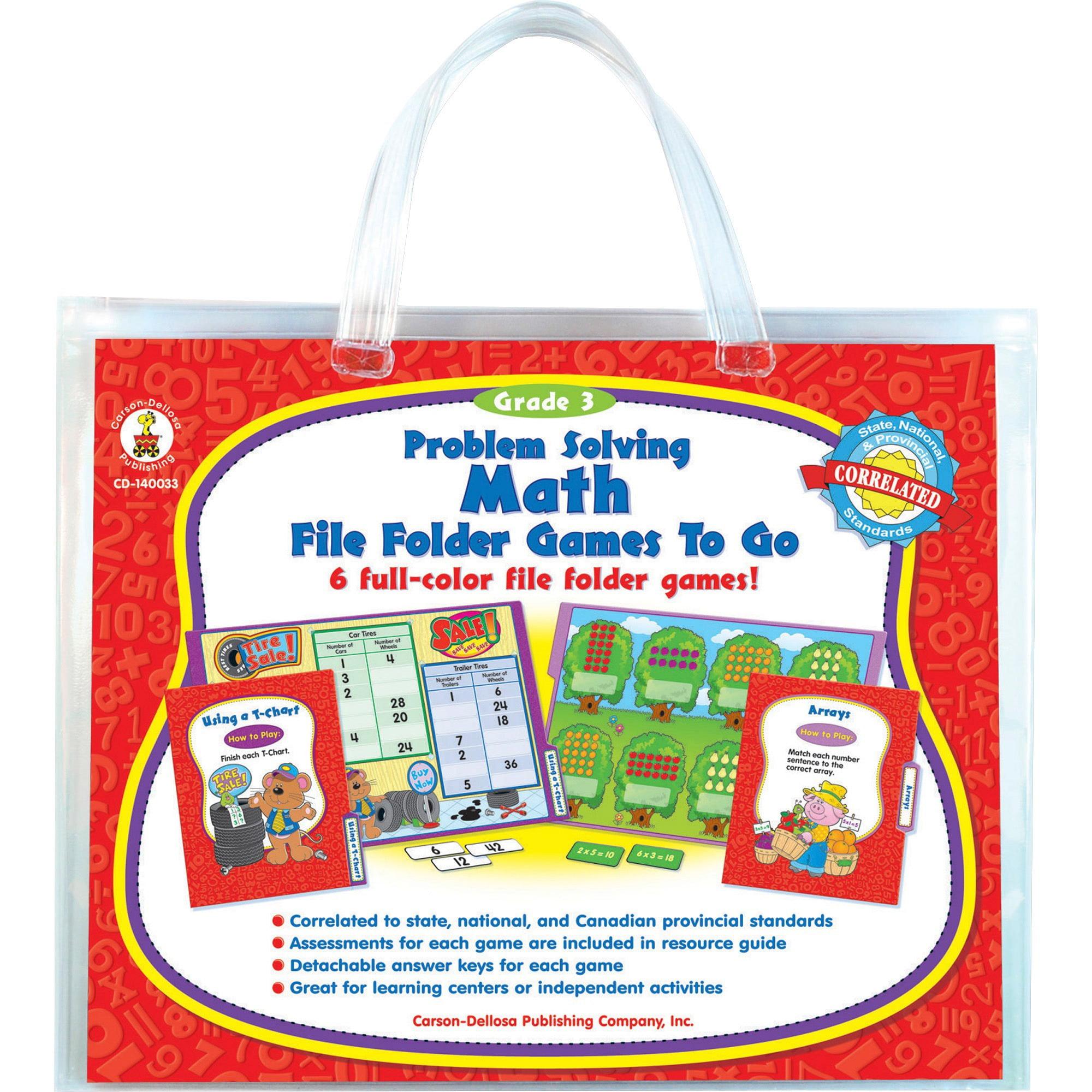 Carson-Dellosa, CDP140033, Problem Solving Math Game, 1 Each, Multi