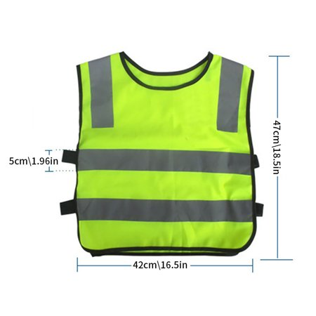 Children's Reflective Vest Safety Reflective Tops Night Sports Vest - image 7 de 8