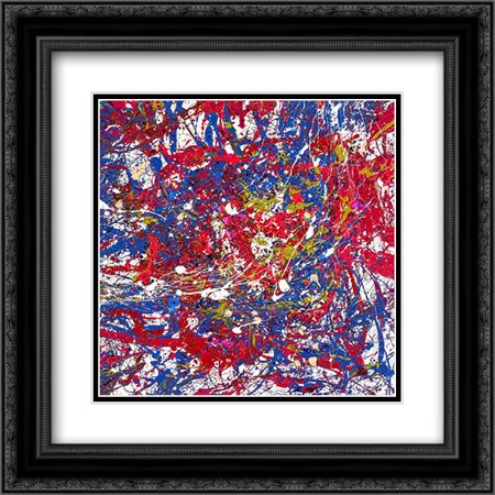 Energy Generation 37 2x Matted 20x20 Black Ornate Framed Art Print by Doyeon,