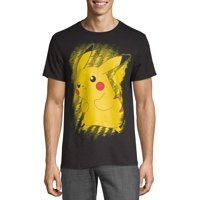 Pokemon Brushy Pikachu Men's and Big Men's Graphic T-shirt